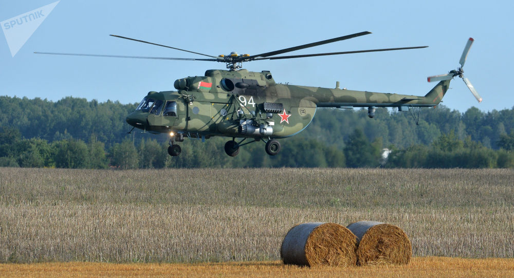 Běloruský vrtulník Mi-8