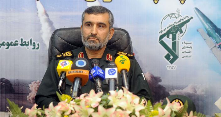Velitel íránských vzdušných a kosmických sil Íránských revolučních gard Amir Ali Hajizadeh.