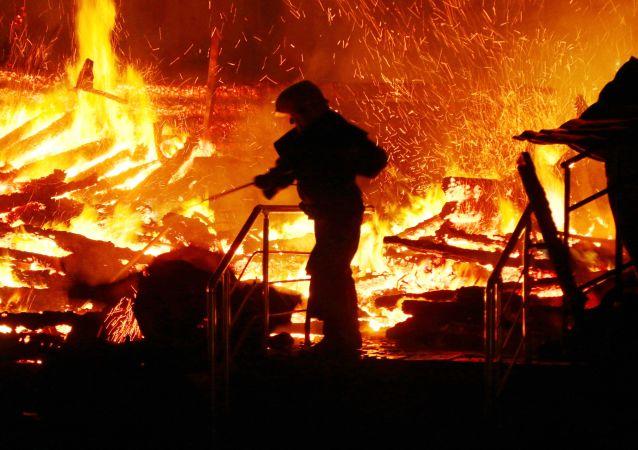 Požár táboru v Oděse