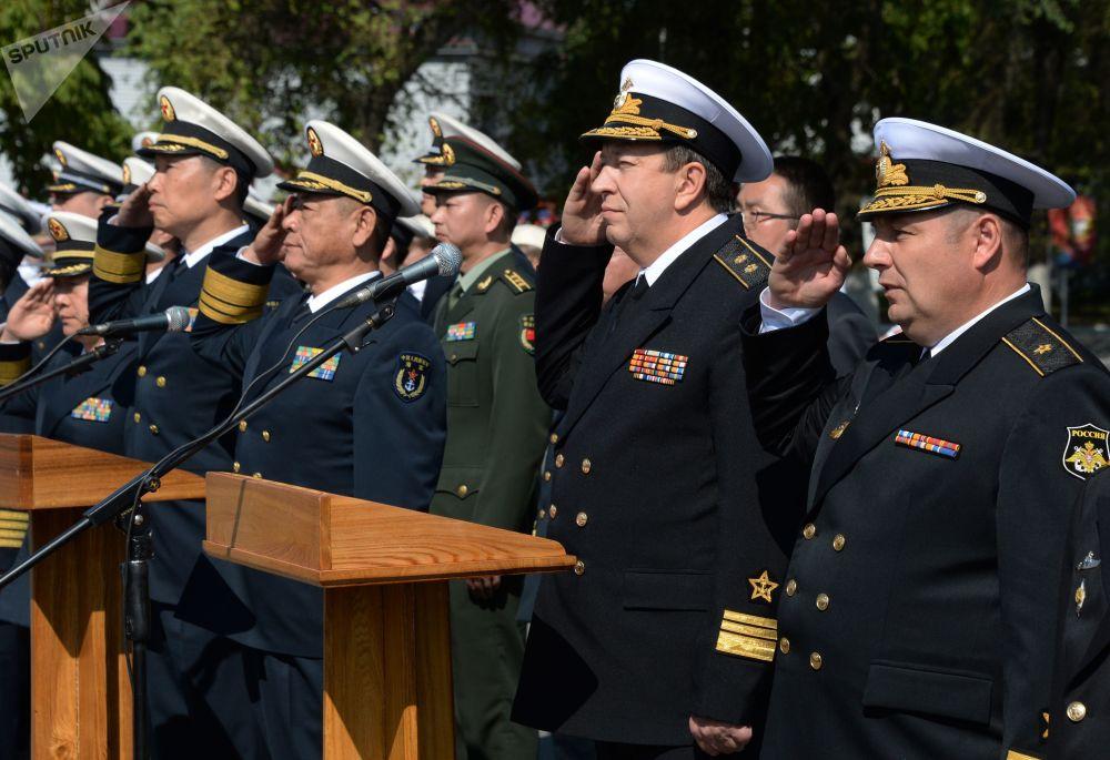 Připlutí bojových lodí čínského námořnictva do Vladivostoku