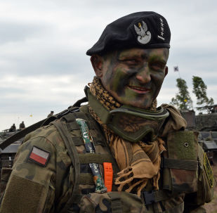 Velitel polského tanku na vojenském cvičení NATO