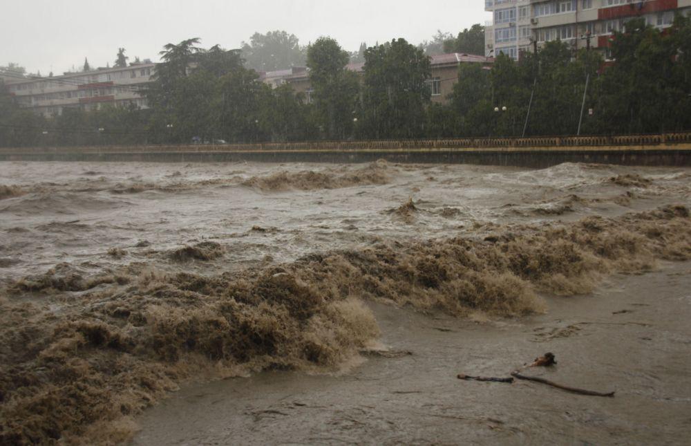 Zaplavené město Soči
