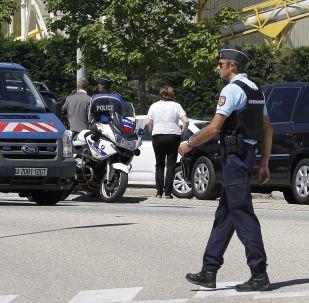 Francouzská policie v Lyonu