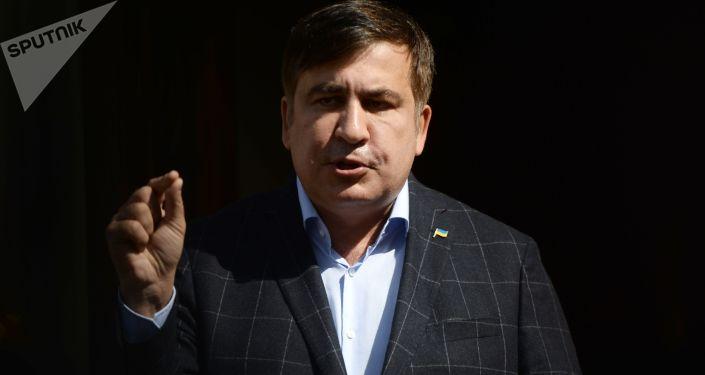 Bývalý gruzínský prezident a bývalý gubernátor Oděsské oblasti Michail Saakašvili