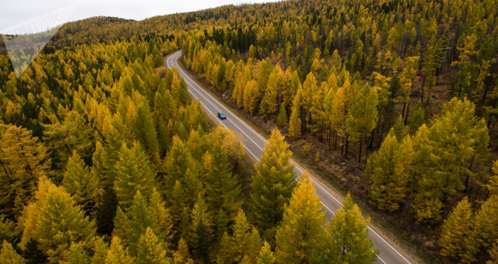 Silnice v Tyvě. Sibiř