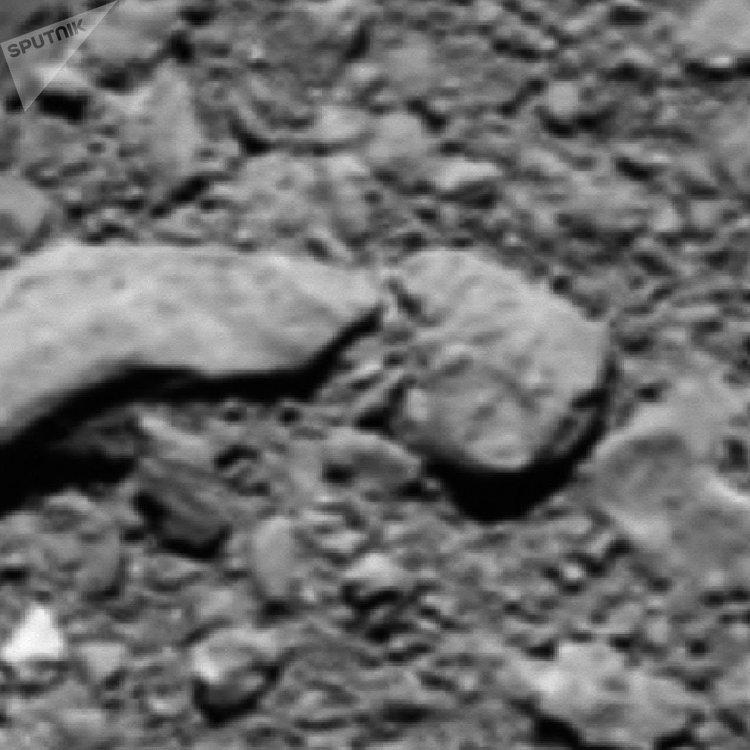 Fotografie, kterou vědci náhodou dostali z Rozetty