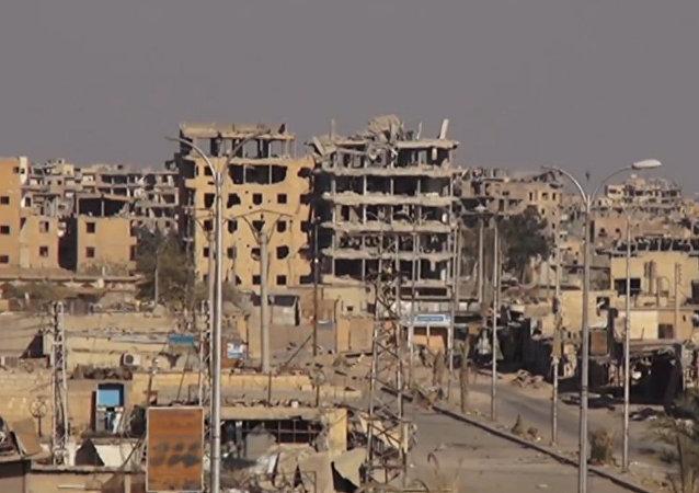 Trosky v Rakce po bojích s teroristy. Video