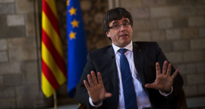 Premiér Katalánska Carles Puigdemont