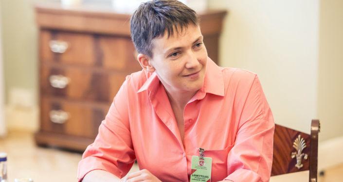 Poslankyně ukrajinské Nejvyšší rady Naděžda Savčenková