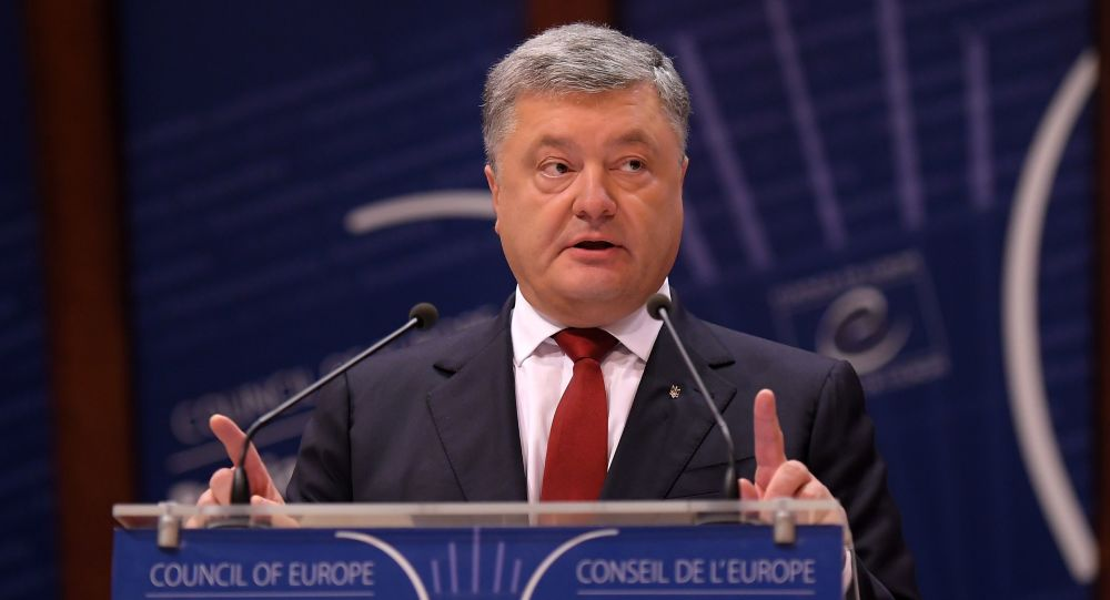 Ukrajinský prezident Petro Porošenko na zasedání PACE