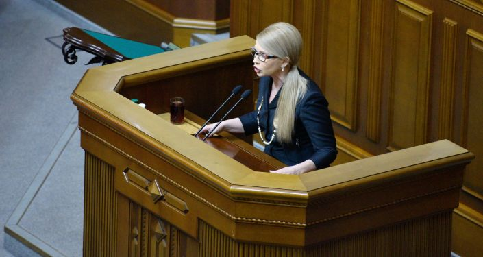 Ukrajinská poslankyně Julie Tymošenková