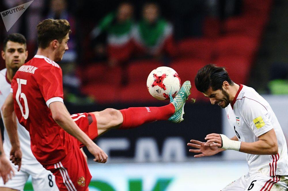 Přátelské fotbalové utkání mezi ruskou a íránskou reprezentací