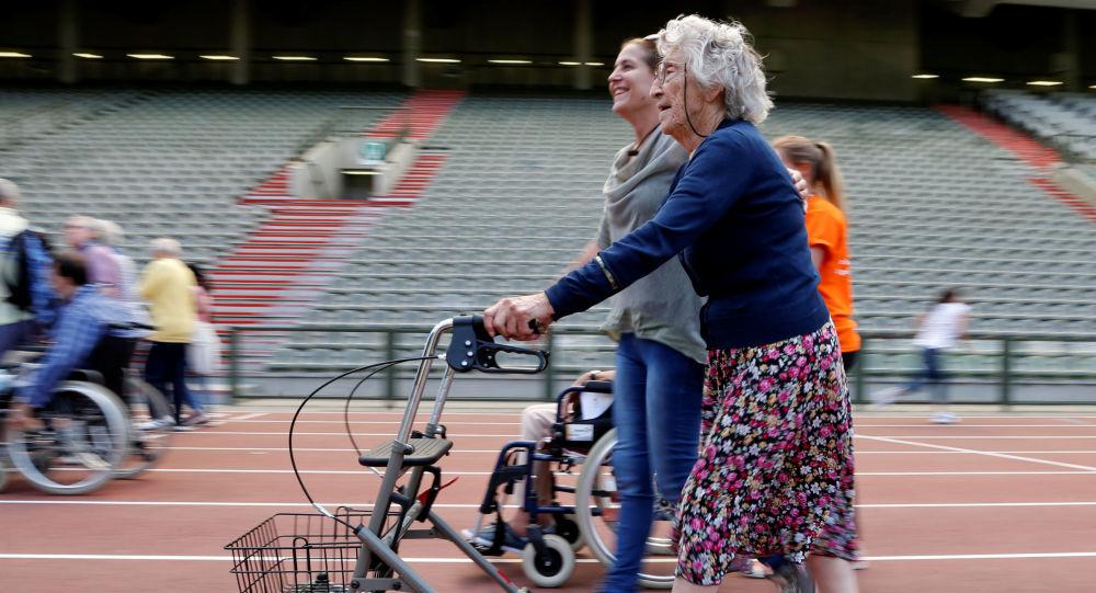 Účastníce olympiády pro seniory v Bruselu