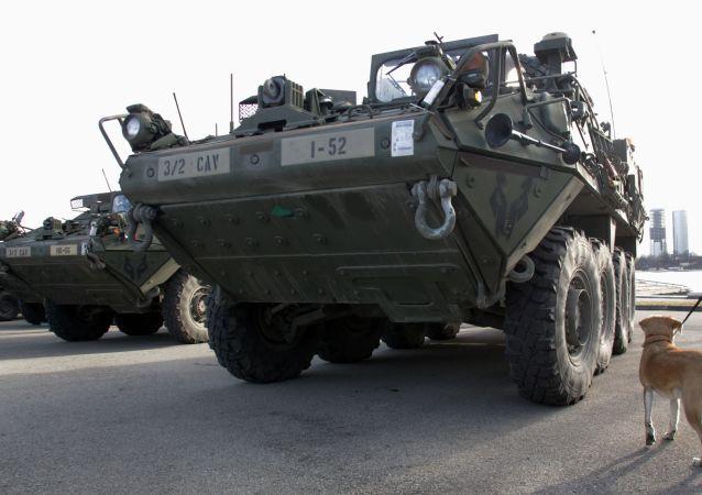 Americký obrněný transportér Stryker. Ilustrační foto
