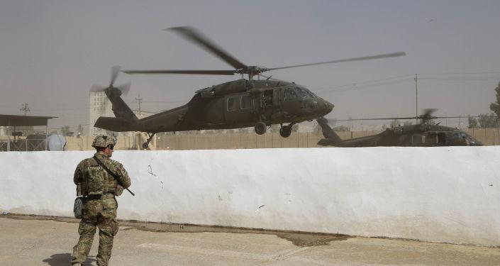 Vrtulník koalice USA v Iráku