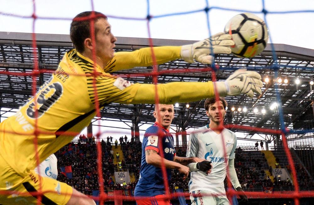 Zápas 14. kola ruské Premier ligy mezi CSKA Moskva a Zenitem Petrohrad