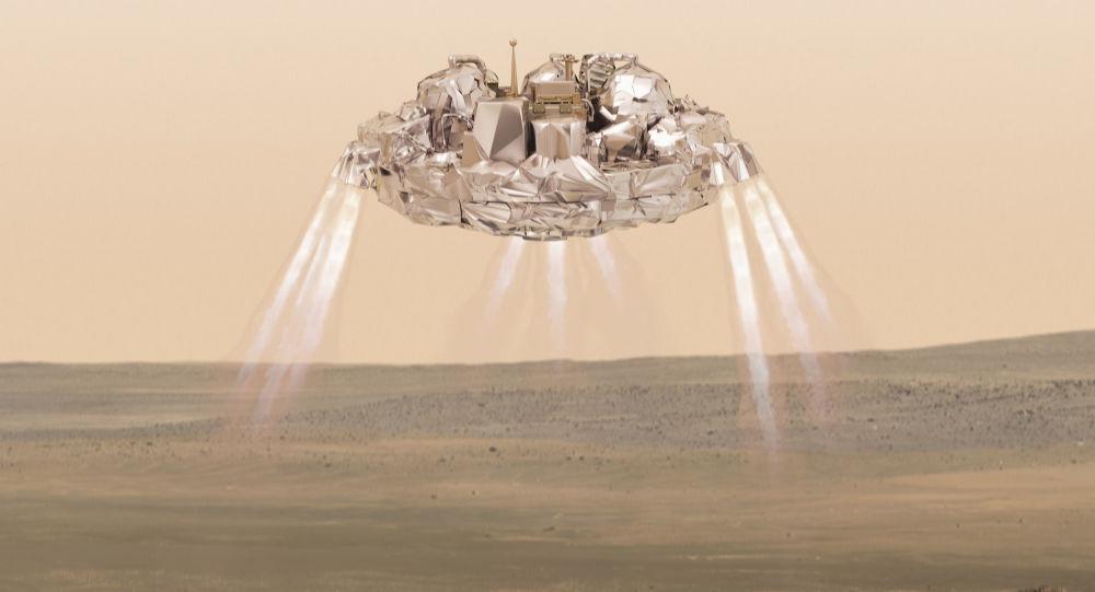 Přistání aparátu na Marsu. Ilustrační foto