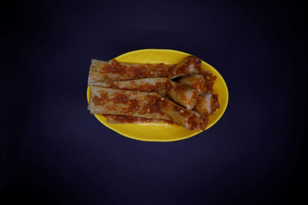 Severokorejské jídlo Injogogi-bab.