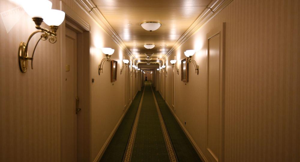 Chodba v hotelu v Moskvě