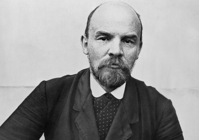 Hlavní organizátor Velké říjnové socialistické revoluce 1917 Vladimir Lenin