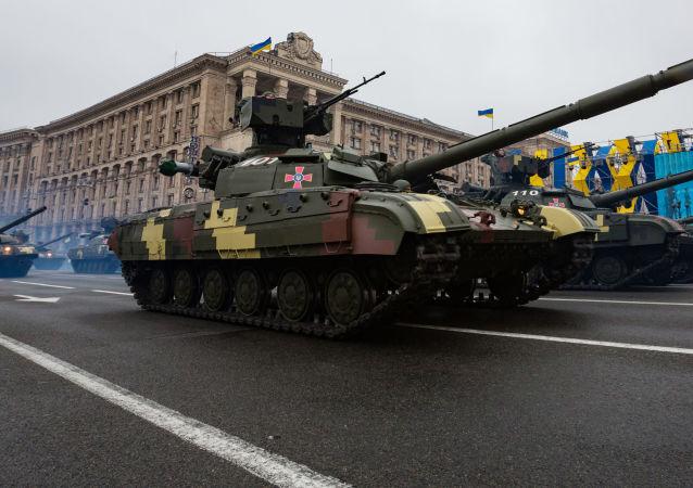 Vojenská přehlídka v Kyjevě