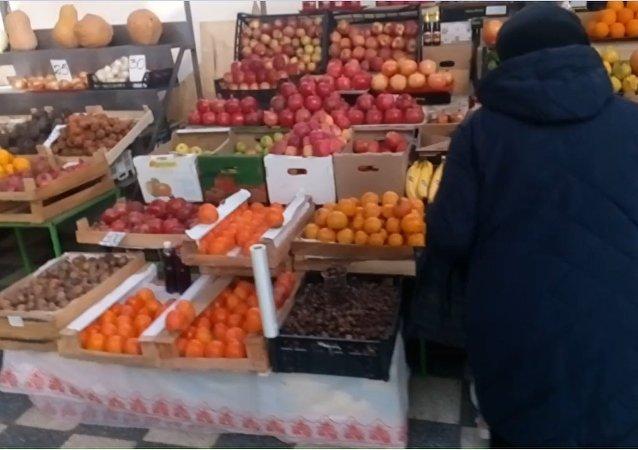 Potravinový trh v Rostově
