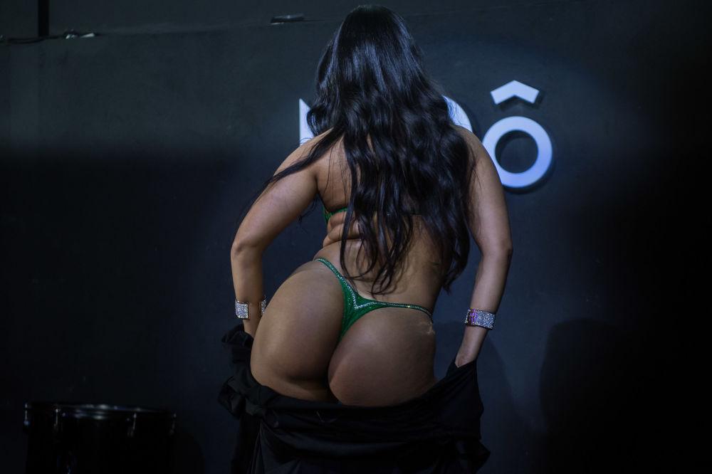 Účastnice soutěže Miss Bum-bum v Sao Paulu, Brazílie