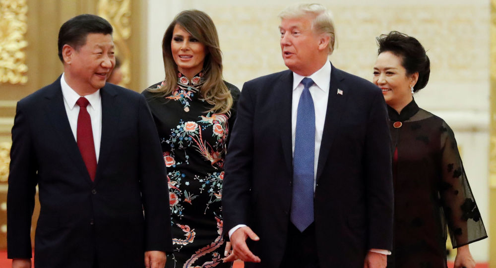 Si Ťin-pching, Donald Trump a jejich manželky
