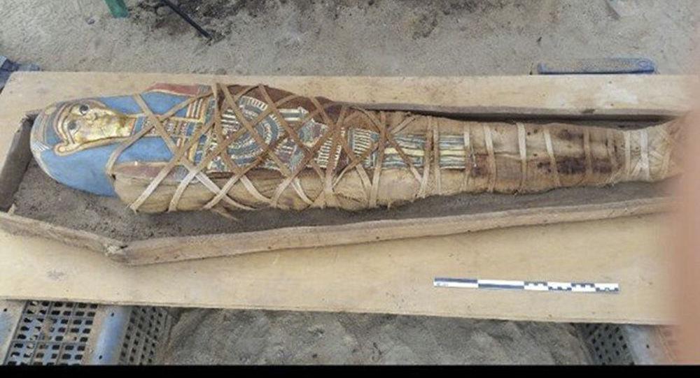 Mumie nalezená ruskými archeology ve Fajjúmu