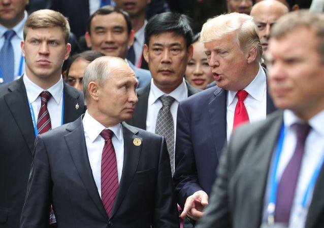 Prezident RF Vladimir Putin a prezident USA Donald Trump