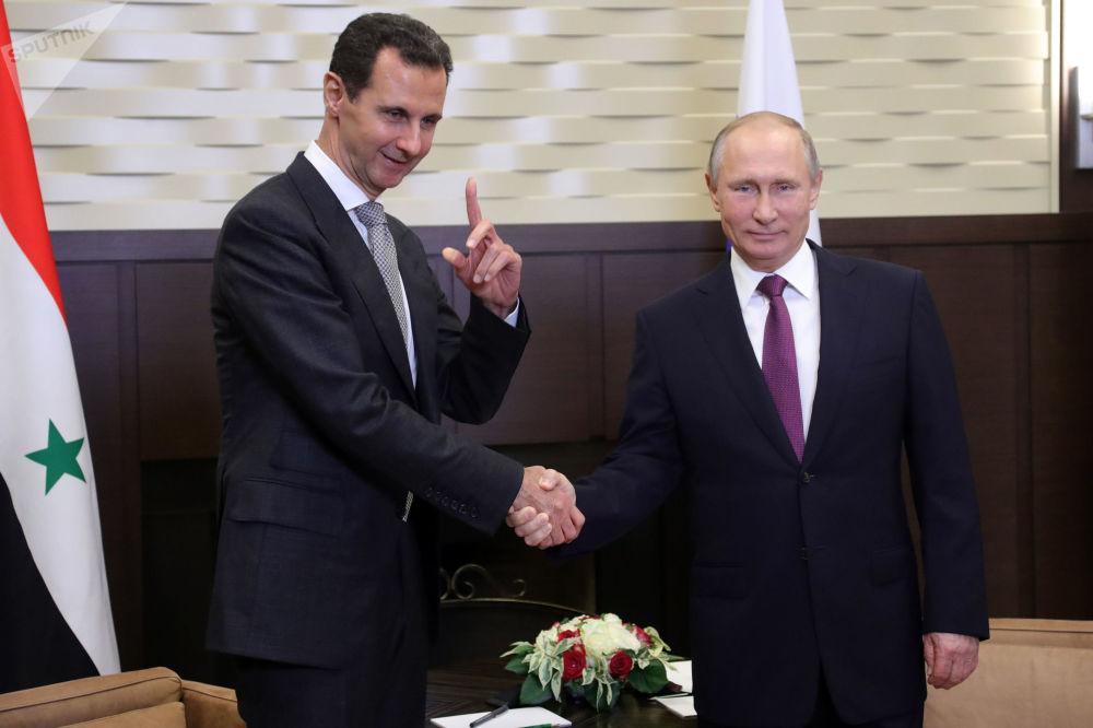Schůzka Putina a Asada
