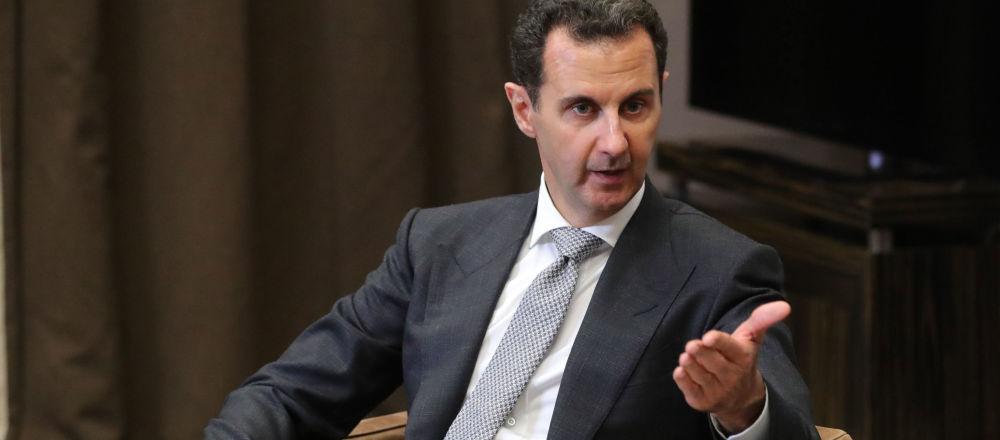 Syrský prezident Bašár Asad během schůzky s ruským prezidentem Vladimirem Putinem