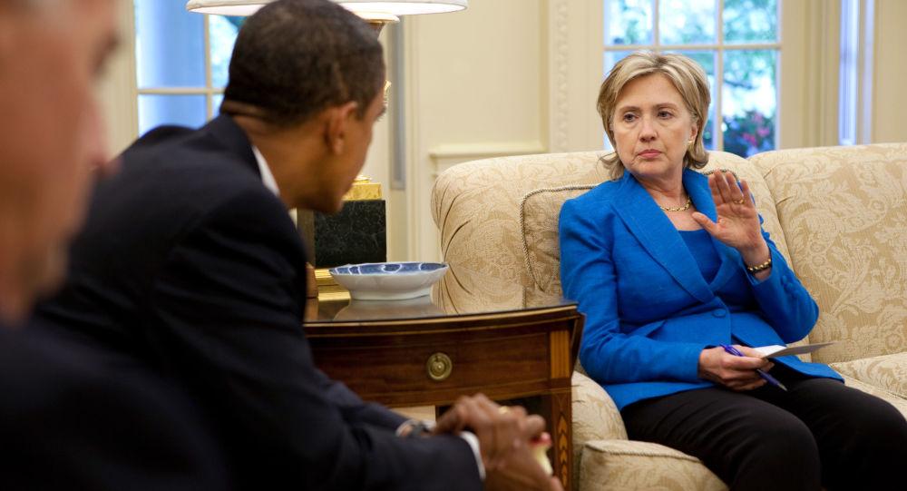 Barack Obama a Hillary Clintonová. Archivní foto