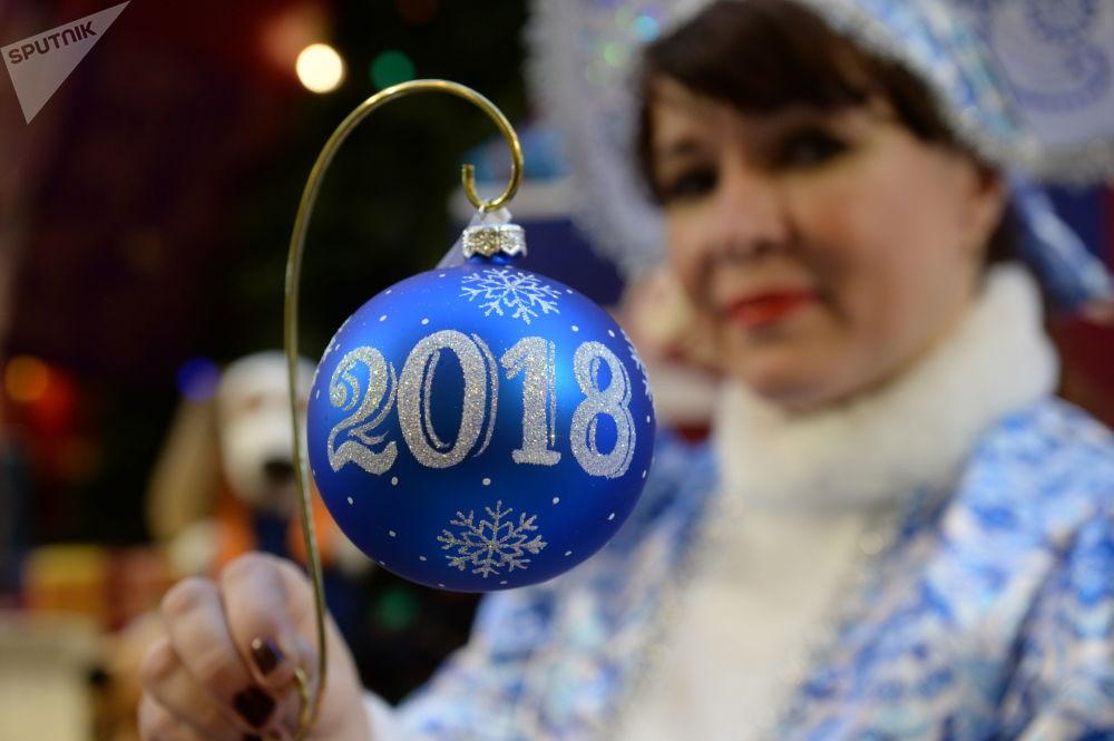 Svátek se blíží: novoroční dekor GUMu v Moskvě