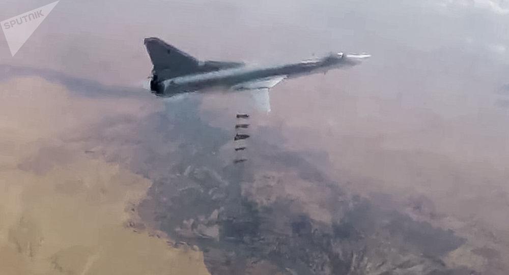 Útok VKS RF na objekty teroristů v Sýrii