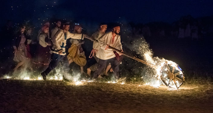 Festival etnických kultur Solncestojanie v Omské oblasti