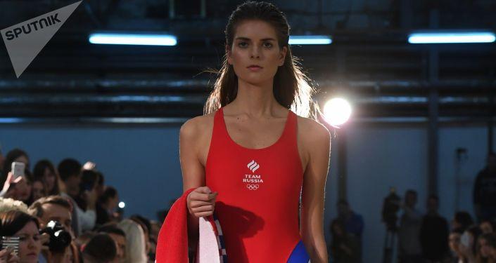 Přehlídka oblečení olympijského týmu a casual-kolekce značky ZASPORT.
