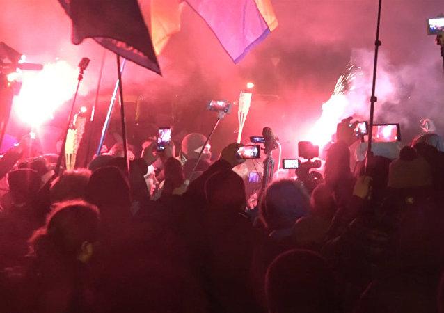 Pochod s loučemi v Kyjevě