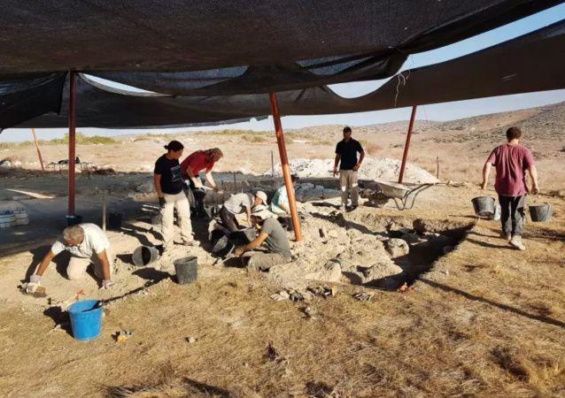 Místo objevení starobylého paláce v Izraeli