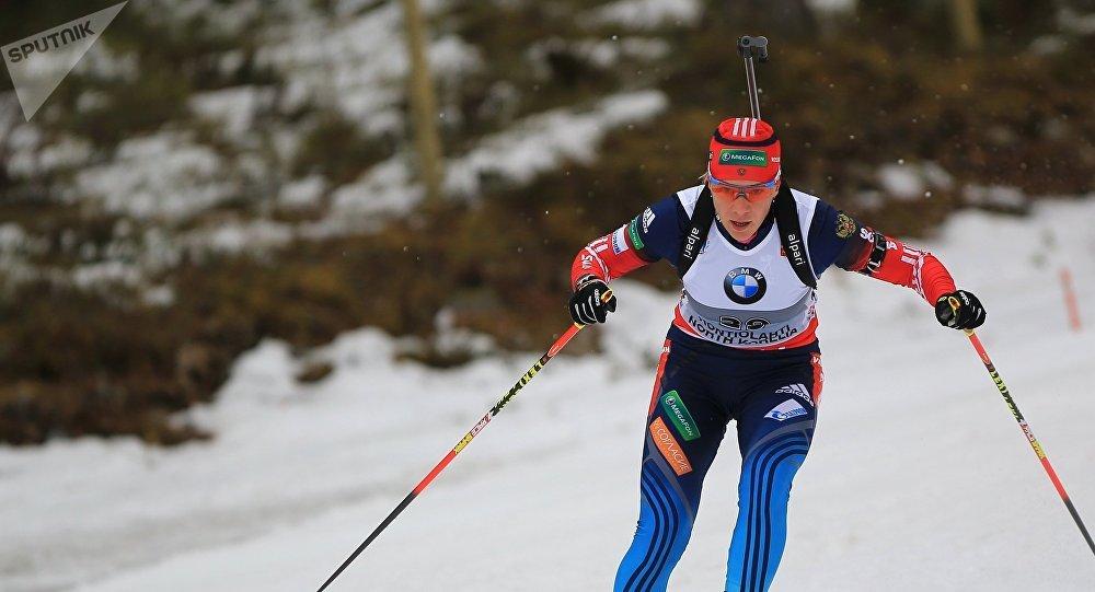 Ruská biatlonistka Olga Zajcevová