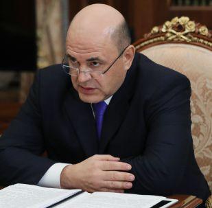 Ředitel Federální daňové služby Ruska Michail Mišustin v Kremlu