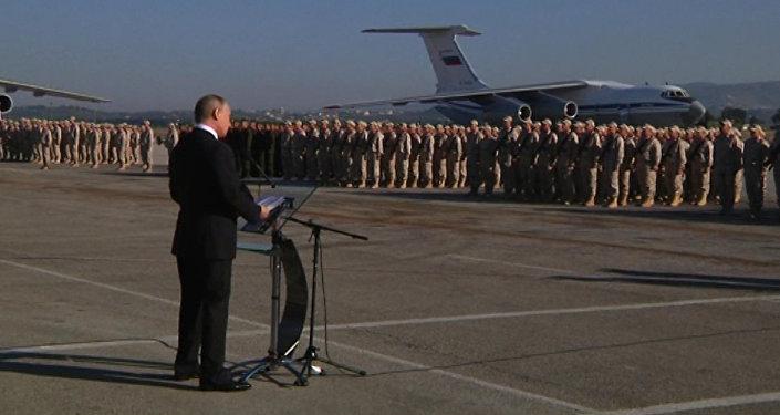 Vladimir Putin v Sýrii