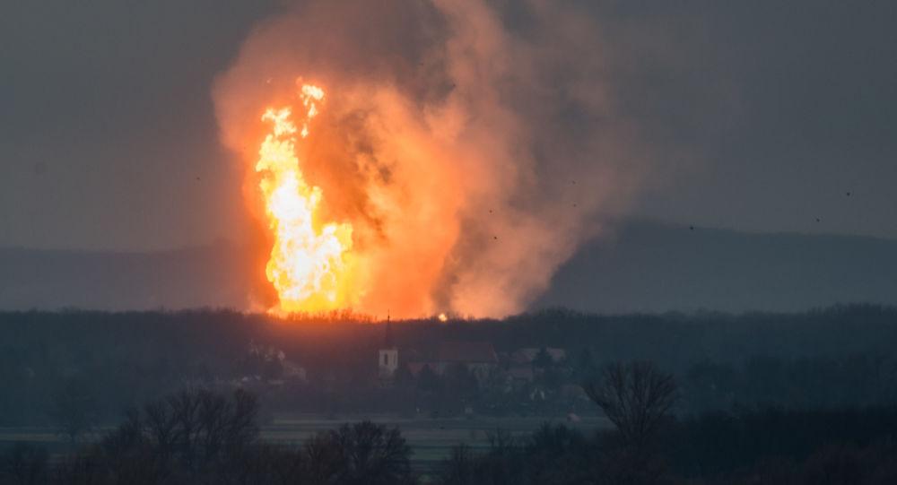 Výbuch plynovodu. Ilustrační foto