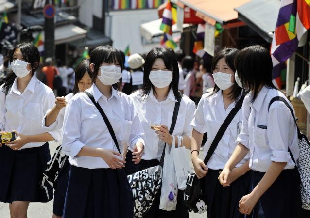 Japonské žákyně. Ilustrační foto