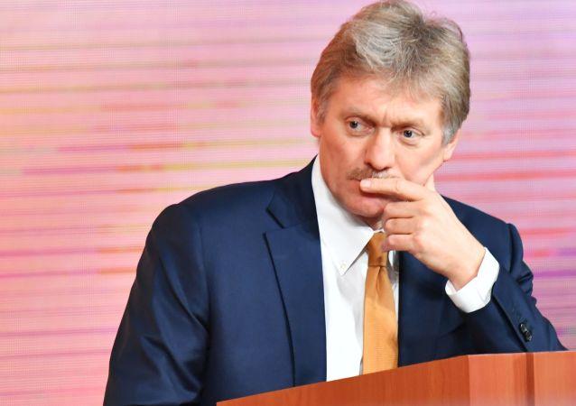 Tiskový mluvčí ruského prezidenta Dmitrij Peskov  během konference