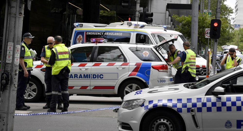 Police na místě incidentu v Melbourne