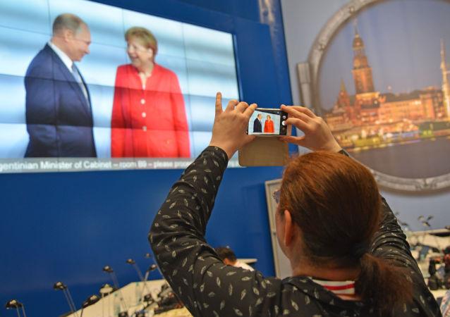 Jednání Vladimira Putina a Angely Merkelové