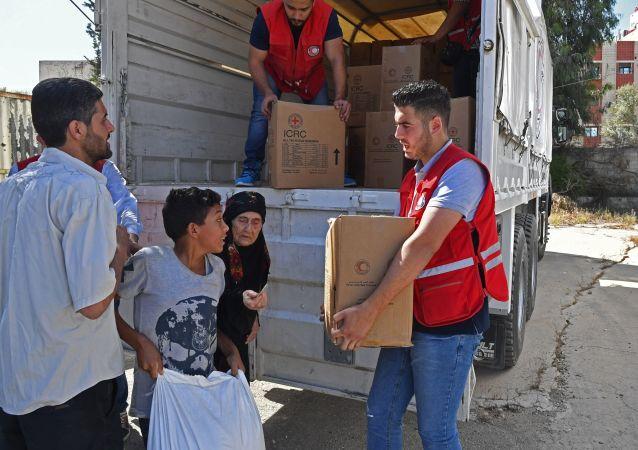 Humanitární pomoc v Sýrii. Ilustrační foto