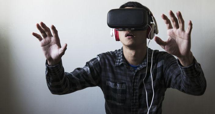 Muž v brýlech virtuální reality
