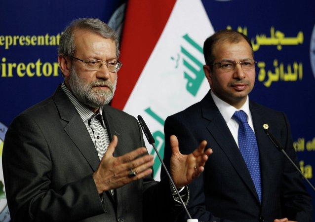 Předseda íránského parlamentu Alí Laridžání